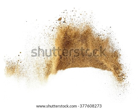 Sand explosion #377608273
