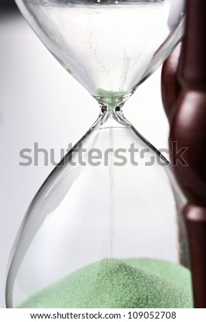 Sand funneling through hour glass