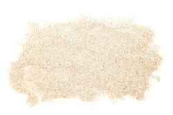 Sand heap isolated on white background