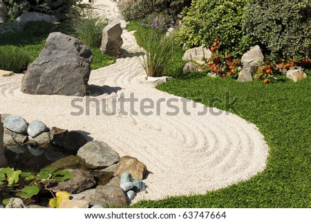 sand in a little zen garden
