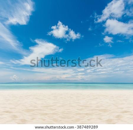 sand of beach Thailand sea #387489289