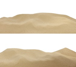sand on the beach background texture isolated