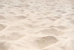 Sand on the beach for background. Brown beach sand texture as background. Close-up.