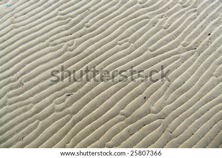 Sand pattern at the beach at low tide