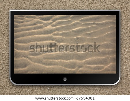 sand pattern screen wallpaper on the beach for holiday concept