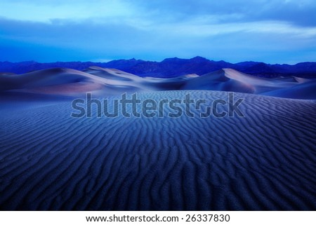 Sand Ripples, Death Valley National Park, California, Artistic Effects