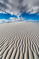 Sand ripples in the dunes at White Sands National Monument near Alamogordo, New Mexico