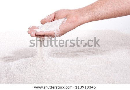 sand runs through hand like the times goes by