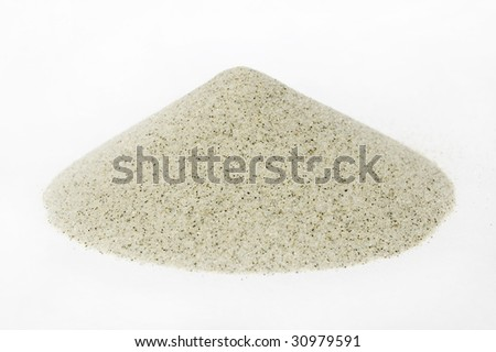 sand's cone - ore of mining industry