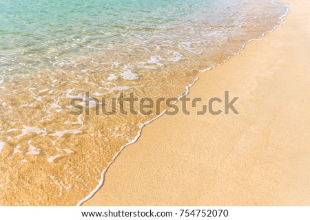 Sand sea tropical beach with clean transparent water #754752070