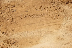 Sand surface for background, top view.