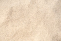 Sand Texture. Brown sand. Background from fine sand. Close-up image.