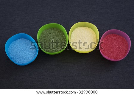sand texture in four diferent colors