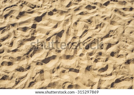 sand, top view. good abstract background