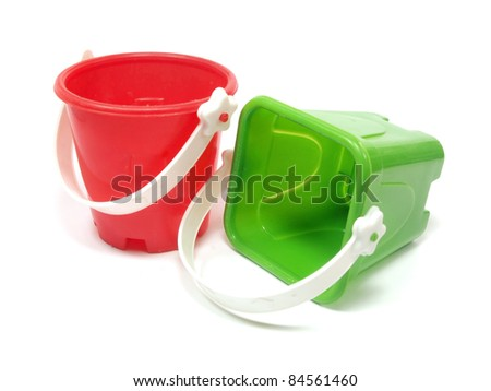 sand toy on a white background