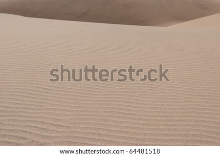 Sand Wave in Great Sand Dunes National Park and Preserve Colorado USA - stock photo