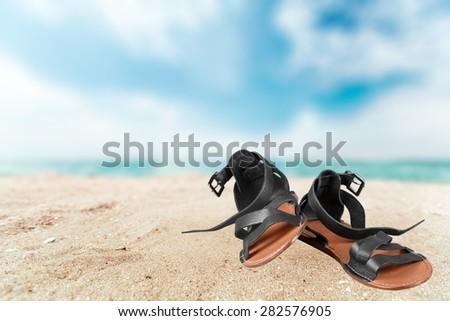 Sandal, Shoe, Isolated. #282576905