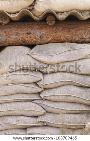 Sandbags In Trenches