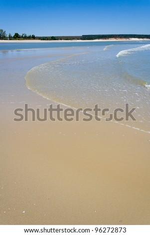 Sandbank at low tide at Antsanitia, western Madagascar