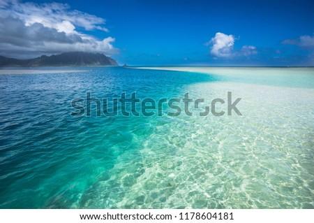 sandbar in Hawaii