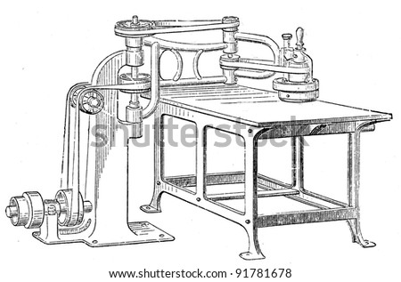 sandblasting machine - an illustration of the encyclopedia publishers Education, St. Petersburg, Russian Empire, 1896