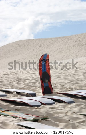 Sandboards and dunes. Florianopolis - SC - Brazil