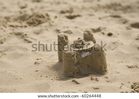 sandcastle on a beach