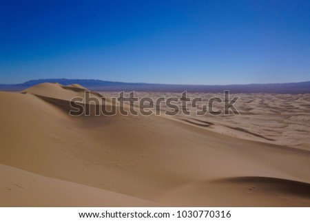 Sanddunes in the Gobi Desert of Mongolia.