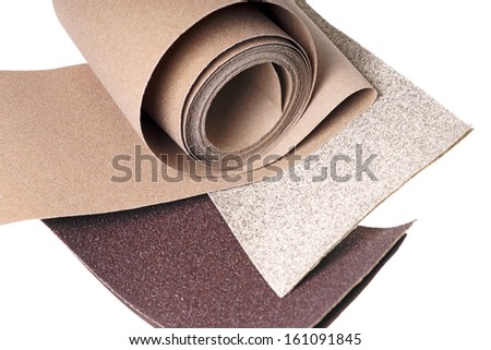 Sanding paper isolated over a white background / sandpaper - stock photo