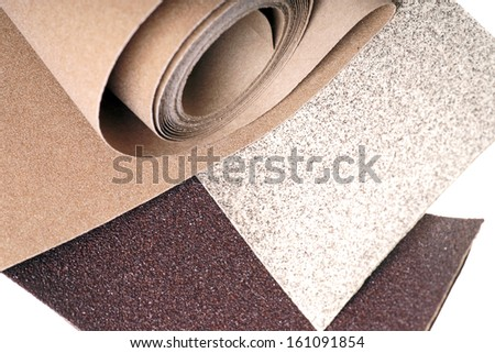 Sanding paper isolated over a white background / sandpaper
