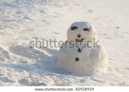 Sandman, doll from sand, snowman