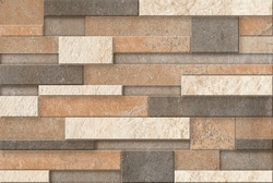 Sandstone bricks seamless of house wall and floor texture background