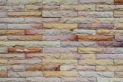 Sandstone Bricks Wall showing Natural Color