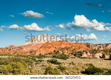 sandstone cliffs on kolob plateau in zion national park
