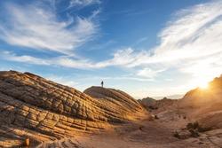Sandstone formations in Utah, USA. Yant flats