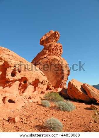 Sandstone rock formation in the Valley of Fire State Park in Nevada