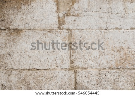 Sandstone Wall. Big Bricks. Abstract Background.