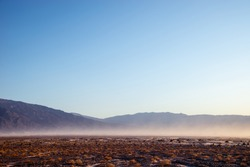 Sandstorm in Death Valley National Park, California, USA