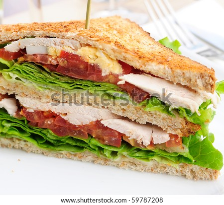 Sandwich- bacon chicken, cheese and lettuce