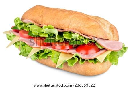 Sandwich, bread, sub.