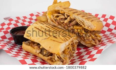 Sandwich de triplets con papas Stok fotoğraf ©