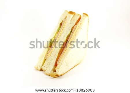 Sandwich Ham and Cheese Classical White Bread - stock photo