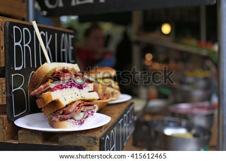 Sandwich in Borough Market gourmet food market. London. Сток-фото ©