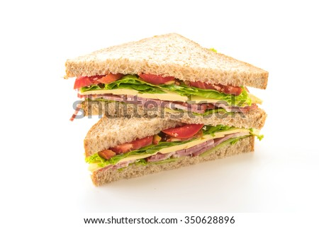 Shutterstock sandwich  on white background