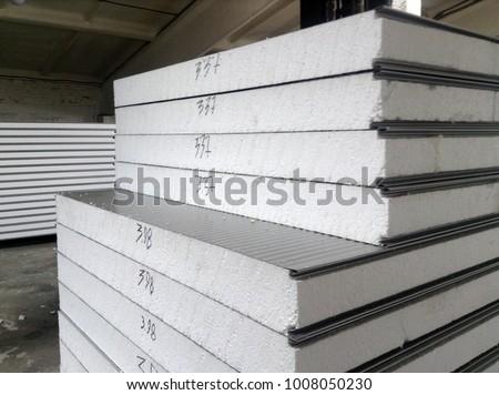 sandwich panels on the warehouse #1008050230