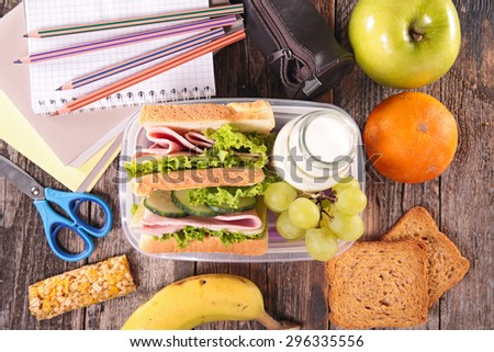 sandwich school lunch