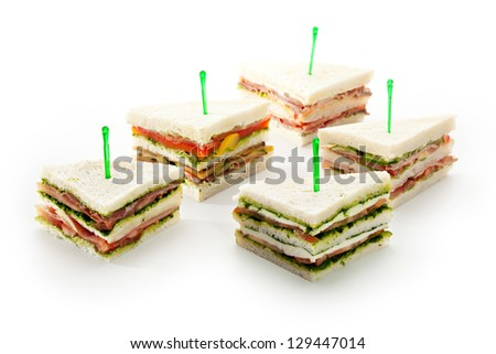 Sandwich Snack with Vegetables and Sauces