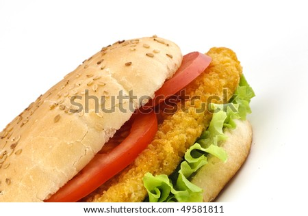 Sandwich with chichen and vegetables