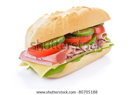 Sandwich with delicious ham