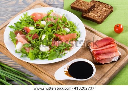 Prosciutto, Arugula And Balsamic Sandwich Recipe — Dishmaps